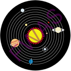 Order of Sol Achievement Button (Observed all 8 official planets with a telescope)